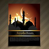 pic of namaz  - vector illustration of ramadan festival template design - JPG
