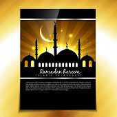 picture of namaz  - stylish muslim festival ramadan kareem background - JPG