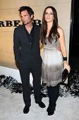 Len Wiseman and Kate Beckinsale  at the Burberry Beverly Hills Store Re-Opening. Burberry Beverly Hi