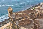 picture of el morro castle  - San Juan Fort San Felipe del Morro Puerto Rico - JPG