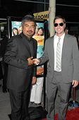 George Lopez and Luke Wilson At the Premiere of