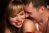 pic of kissing couple  - Young loving couple - JPG