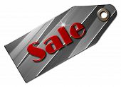 picture of year end sale  - A grey metal tag  with the text  - JPG