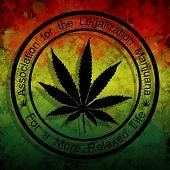 picture of rastafari  - Illustration of the Association for the legalization of marijuana - JPG