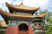 foto of lamas  - Beautiful view of the Lama temple in Beijing China - JPG