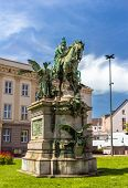 Постер, плакат: Monument To Kaiser wilhelm denkmal In Dusseldorf Germany