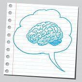 picture of bubble sheet  - Brain in comic bubble - JPG
