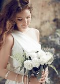 picture of auburn  - Bride portrait - JPG