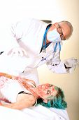 picture of mad scientist  - A crazy mad scientist experiments on Re - JPG