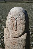 Turkic Stone Man Up Close