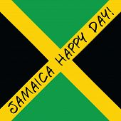 stock photo of rastafari  - Jamaica happy day Greeting card - JPG