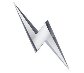 image of lightning bolt  - Power or high voltage hazard 3D sign - JPG
