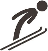 picture of nordic skiing  - Winter sport icons set  - JPG