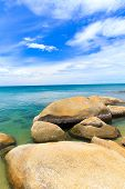 pic of under sea  - tropical sea under the blue sky - JPG