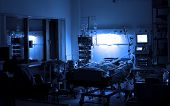 stock photo of intensive care unit  - night duty in the intensive care unit - JPG