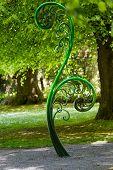 image of fern  - Unravelling fern one of New Zealand symbols - JPG