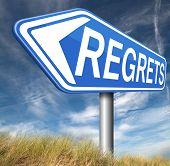 foto of apologize  - regret or no regrets saying sorry and offer apologize being ashamed for bad decisions  - JPG