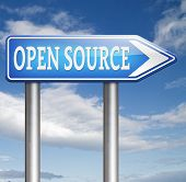 stock photo of open-source  - open source program software program or economy freeware internet data computer sharing  - JPG