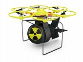 pic of nuclear bomb  - Flying drone to which is attached nuclear bomb - JPG