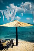 picture of cameos  - outdoor cafe bar table at Cameo beach - JPG