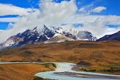 image of snow capped mountains  - Beautiful Patagonia - JPG