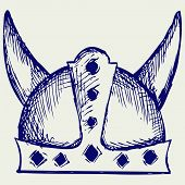 stock photo of viking  - Viking helmet - JPG