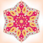 pic of six-petaled  - Symmetrical floral ornament six - JPG
