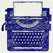 foto of typewriter  - Typewriter - JPG
