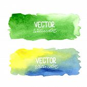 image of ombre  - Watercolor banners - JPG
