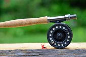 image of trout fishing  - Fly Fishing rod - JPG
