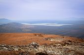 pic of ural mountains  - The view from the large Nurgush on mountain lake Zyuratkul Russia national park