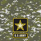 foto of breastplate  - Green army camouflage background for use in the field - JPG