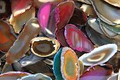 stock photo of agate  - color agates mineral texture as nice natural background - JPG
