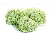 pic of jade  - Jade noodle vegetable noodles green noodles isolated on white background - JPG