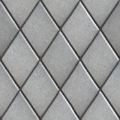 pic of paving  - Gray Paving  Slabs Laid as Pattern of Rhombuses - JPG