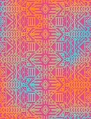 stock photo of tribal  - Aztec tribal mexican seamless pattern - JPG