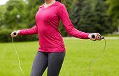 stock photo of jump rope  - fitness - JPG