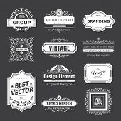 Design logo and monograms poster