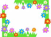 picture of dtp  - happy flowers page corner borders - JPG