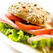 Постер, плакат: Заделывают здоровое бутерброд