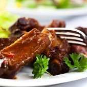 Pork ribs with sweet sauce