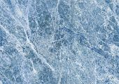 stock photo of calcite  - SEAMLESS ice blue marble material - JPG