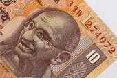 stock photo of mahatma gandhi  - indian 10 rupee banknote - JPG
