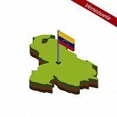 Постер, плакат: Venezuela Isometric Map And Flag Vector Illustration