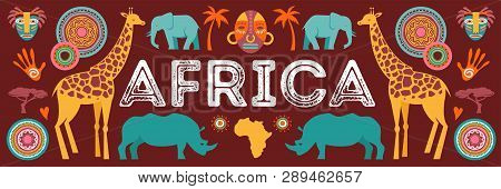 Africa Banner Vector Illustration Of
