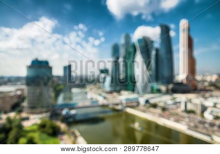 Moscowcity As Creative Blur Background