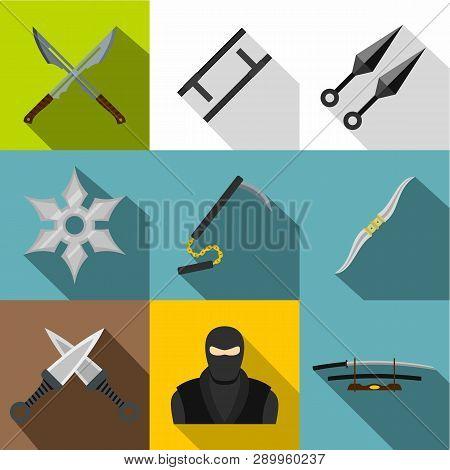 Asian Ninja Arsenal Icon Set