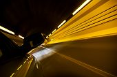 Driving fast inside tunnel