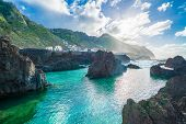 Coastline At Porto Moniz, Madeira Island, Portugal poster