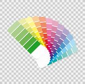 Color Palette Guide On Grey Background.  Vector Stock Illustration. poster